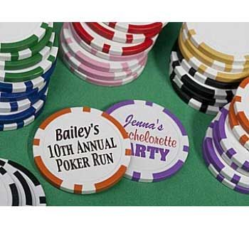 custom poker chips with circle stickers from office depot.