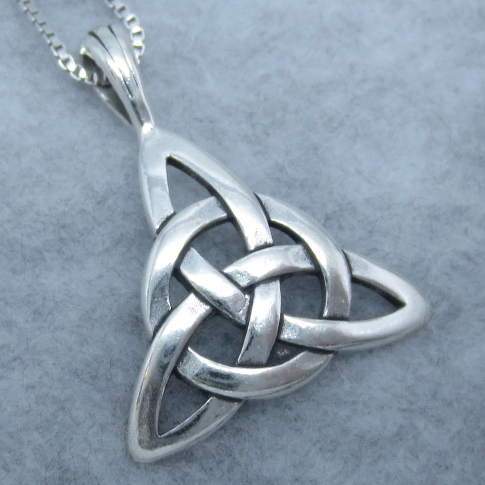 Sterling silver celtic trinity knot necklace will complement any sterling silver celtic trinity knot necklace will complement any outfit your choice of chain length mozeypictures Image collections