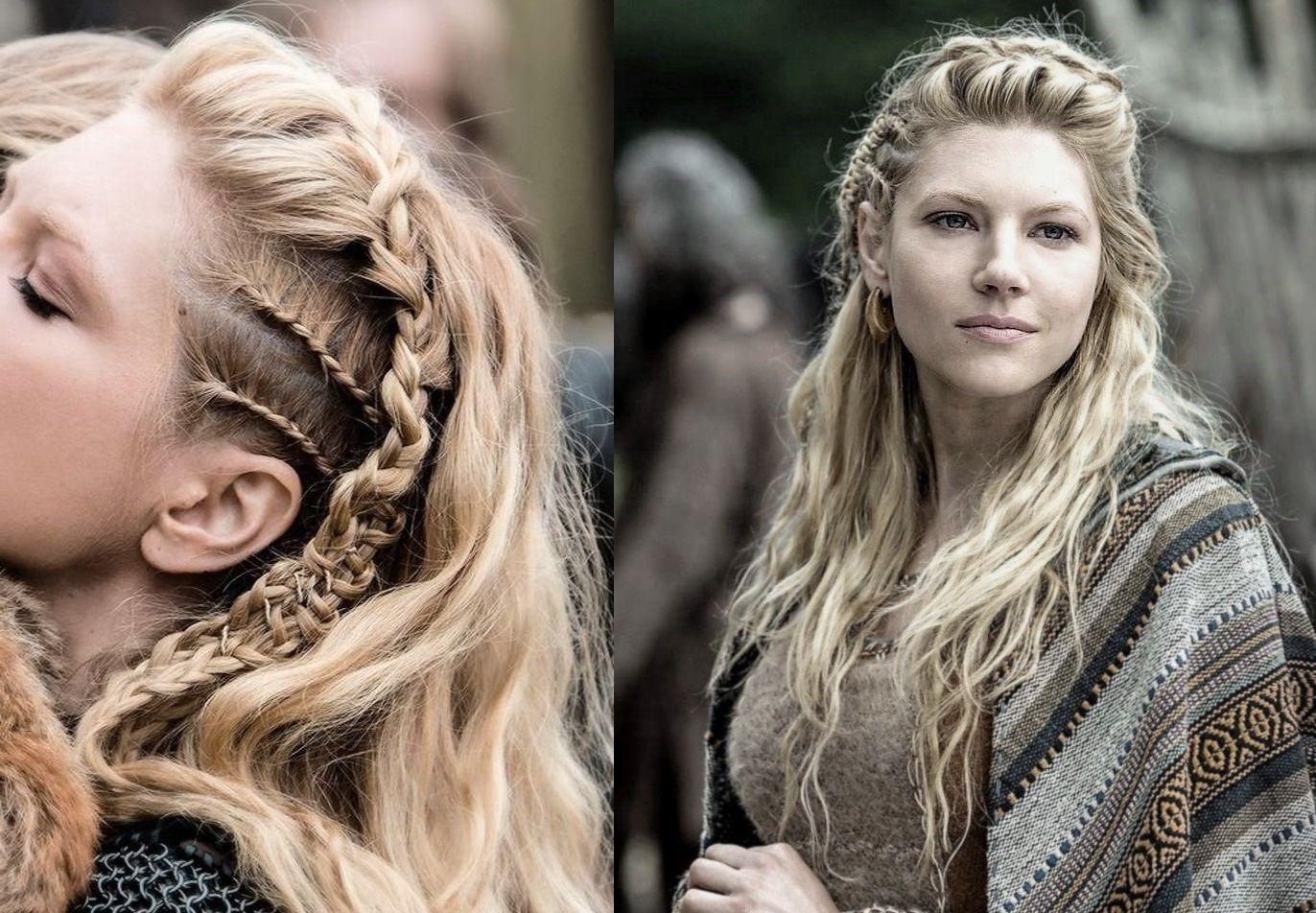 Lagertha Vikings Viking Hair Blonde Braids Hair Styling Viking Norse Freya Freyja Mythology Lothbrok Viking Hair Viking Braids Hair Styles