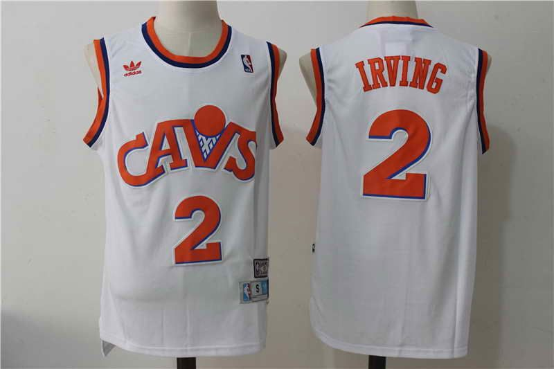wholesale dealer 974f0 a8e46 $21 Cleveland Cavaliers #2 Kyrie Irving White Hardwood ...