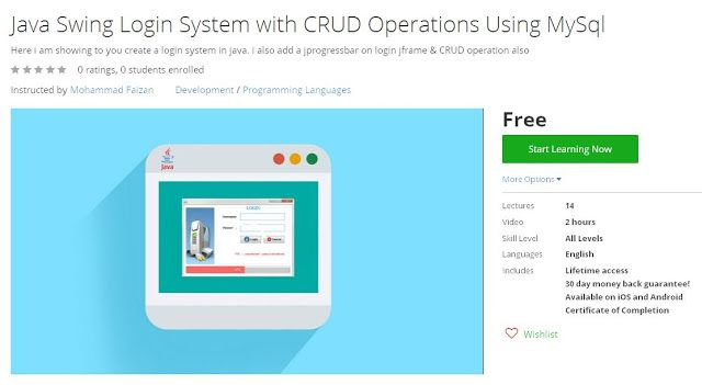 Coupon Udemy - Java Swing Login System with CRUD Operations