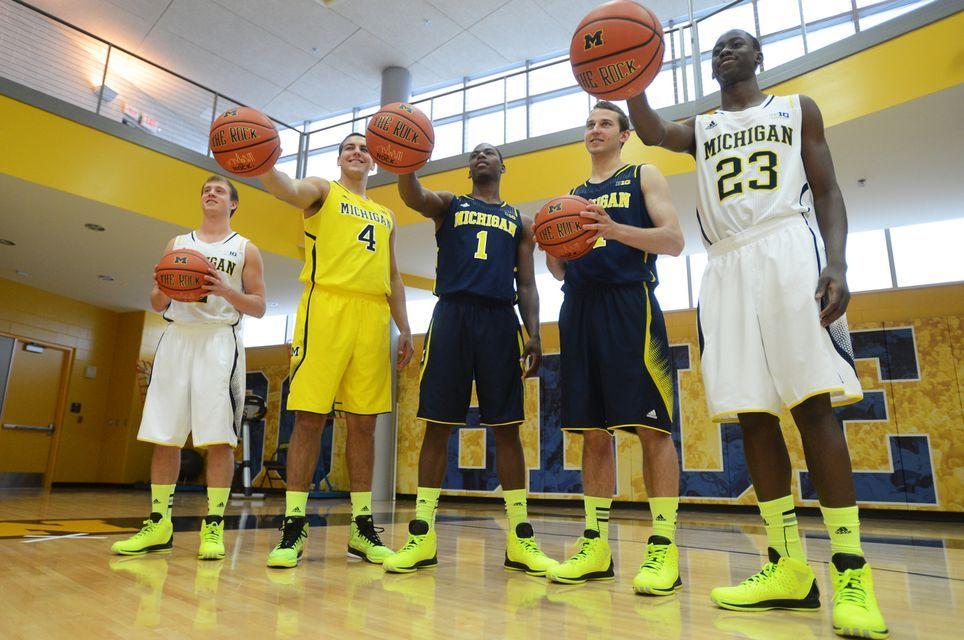 university michigan adidas basketball shoes