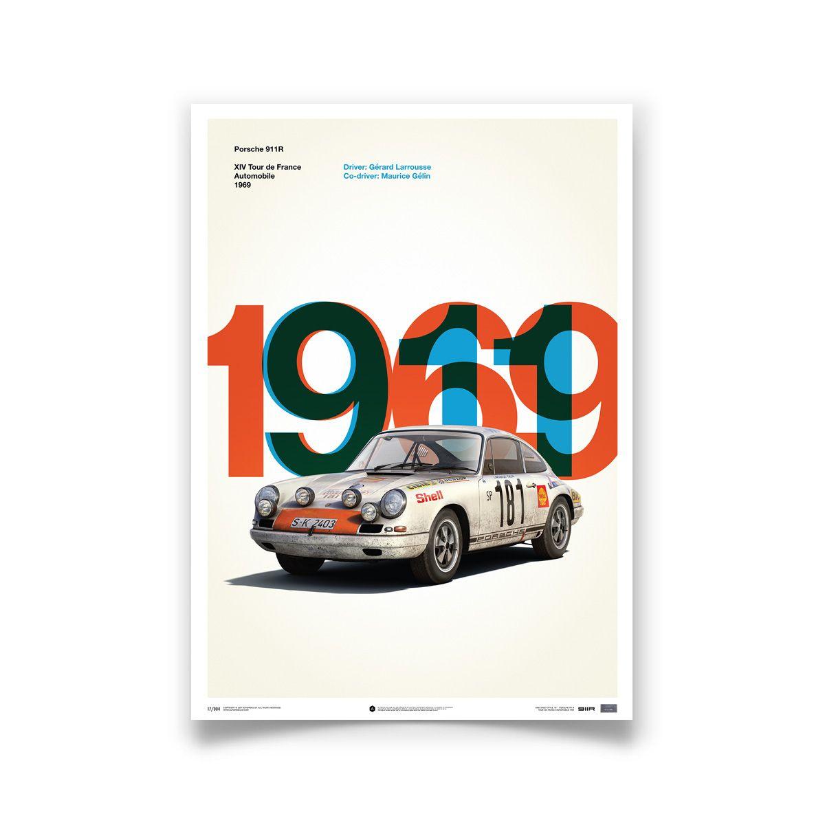 Porsche 911R White Tour de France 1969 Limited