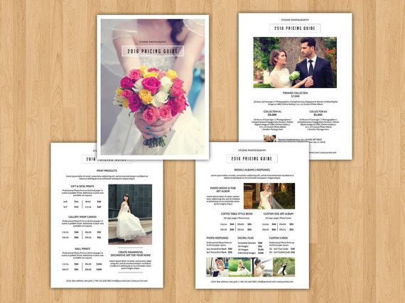 Sale  Photography Price List Template   Pages Pricing Guide