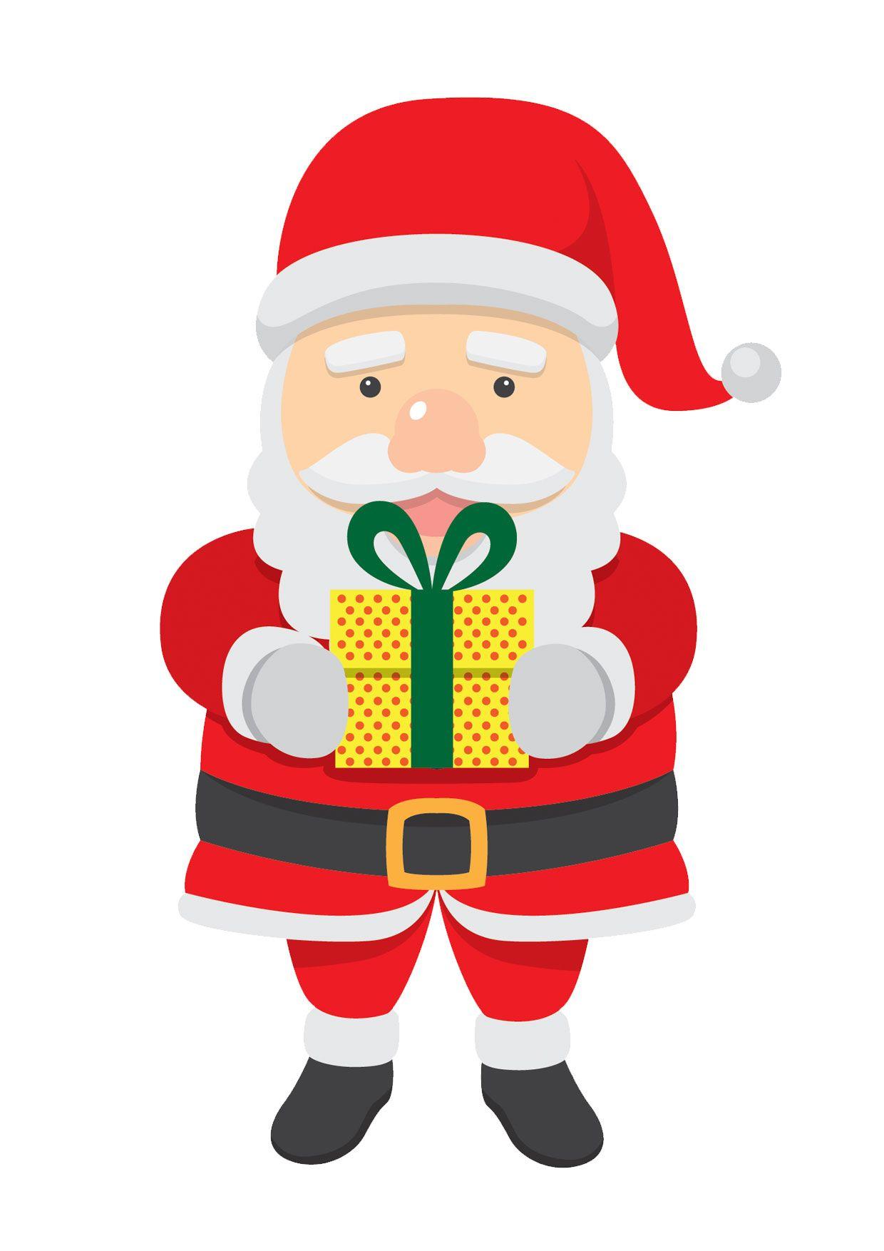 Immagini Colorate Di Babbo Natale.30 Disegni Di Babbo Natale Gia Colorati Da Stampare Babbo Natale Disegni Natale
