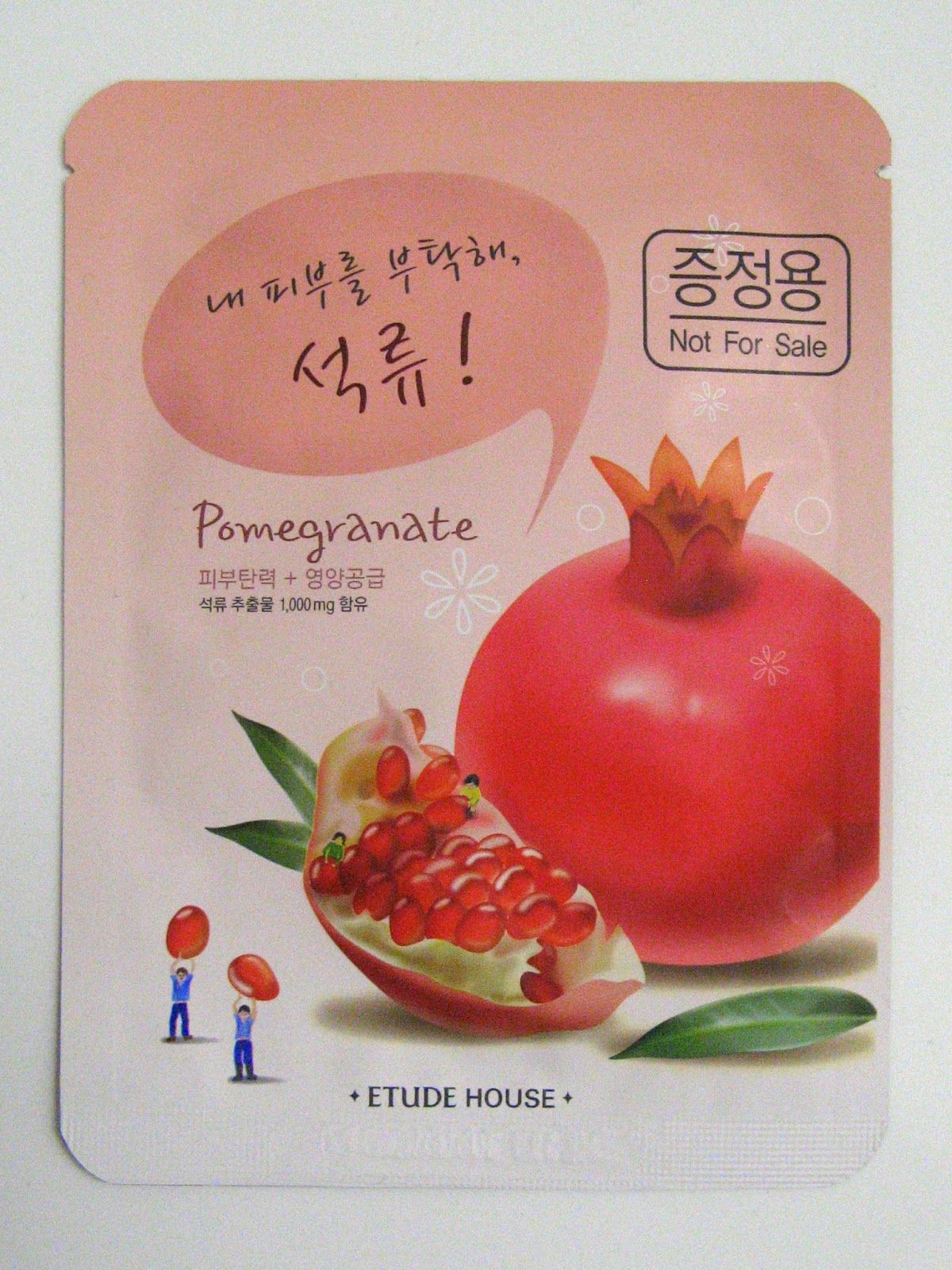 Innocent Culture Blog für asiatischen Lifestyle & koreanischer Kosmetik: Etude House I Need you, Pomegranate! Sheet Mask