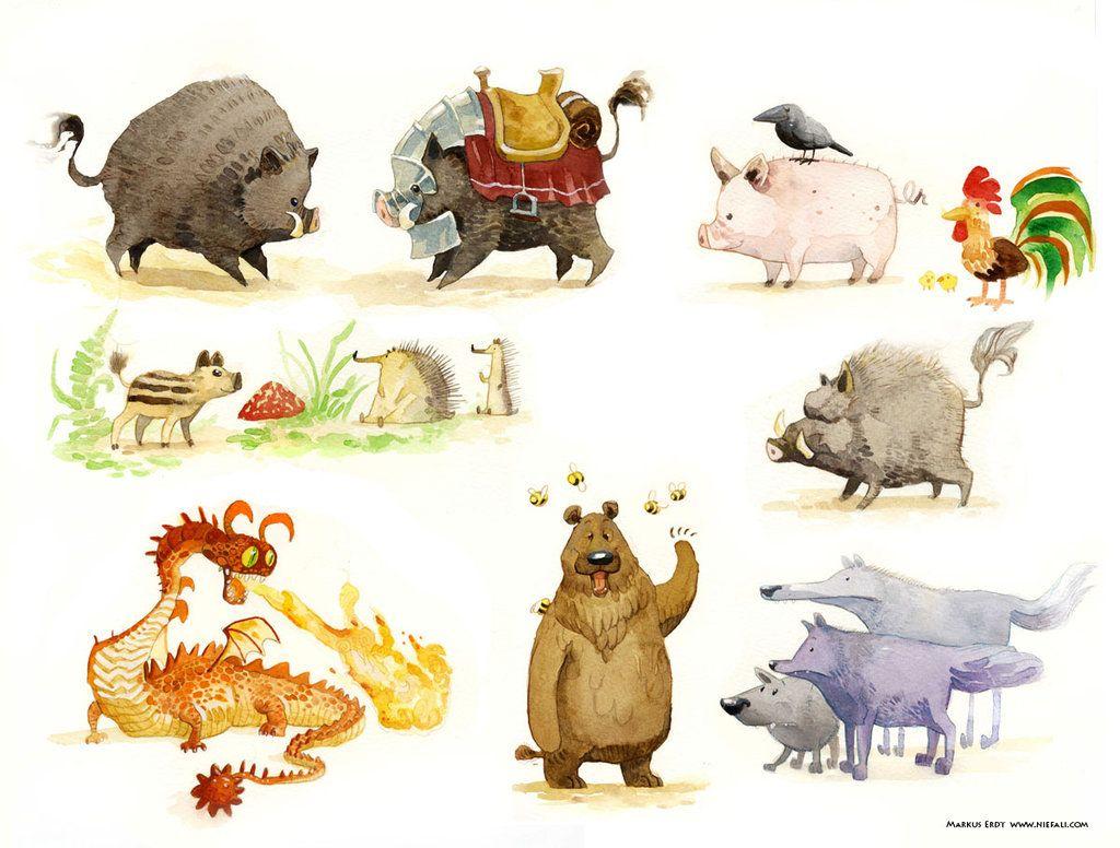 http://vaejoun.deviantart.com/art/Forest-animals-416621588