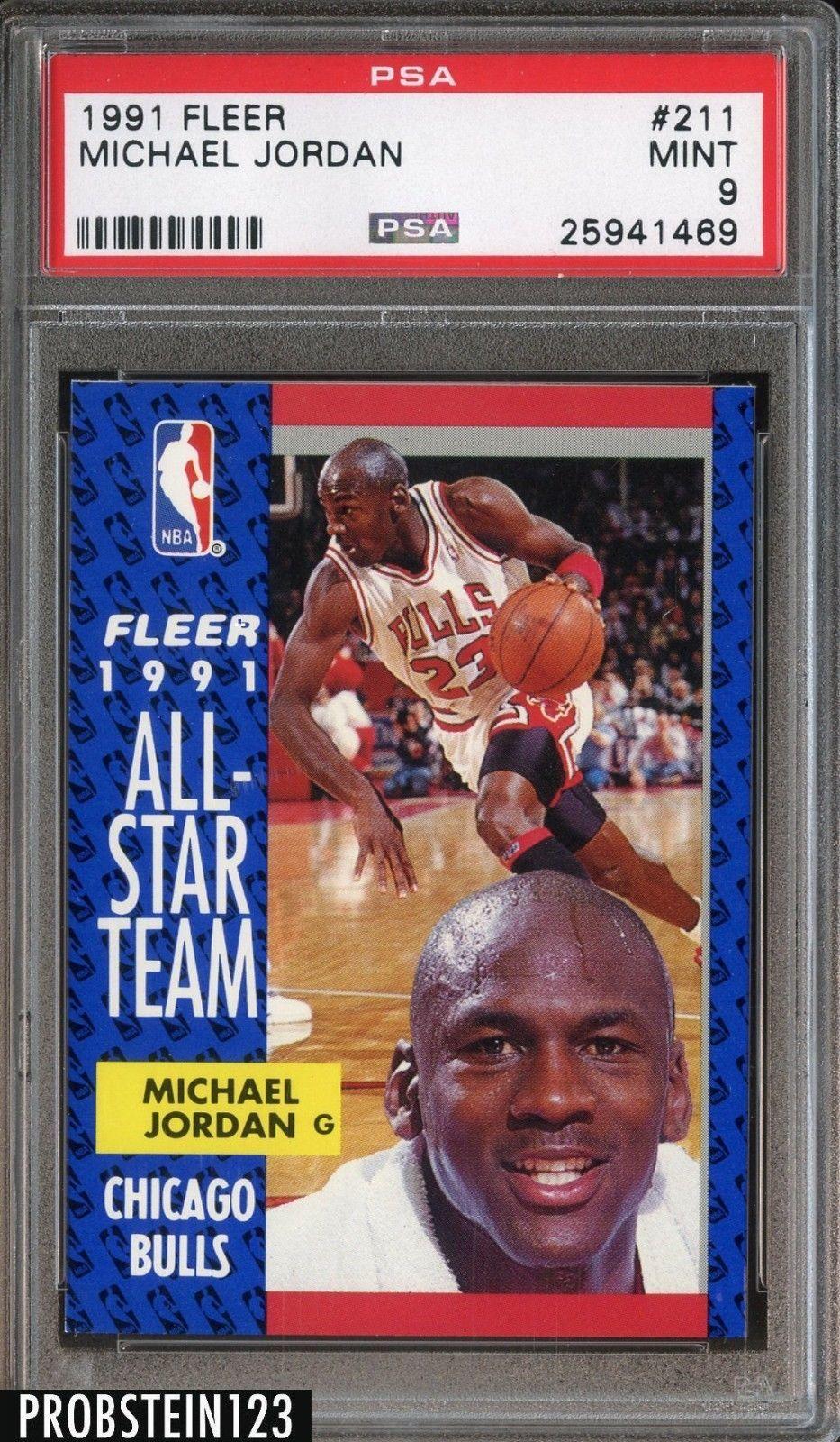 1991 fleer basketball 211 michael jordan chicago bulls