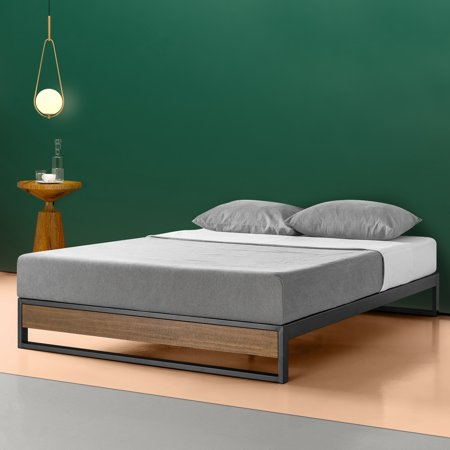 Zinus Suzanne 10 Inch Metal And Wood Platform Bed With Wood Slat Support Multiple Sizes Size 10 Inch Wood Platform Bed Upholstered Platform Bed Bed Frame