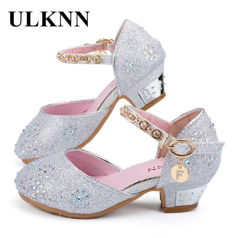 Macy Kid Flower Girl Pageant Dress Shoes White Gold Blue Frozen Girl Flats