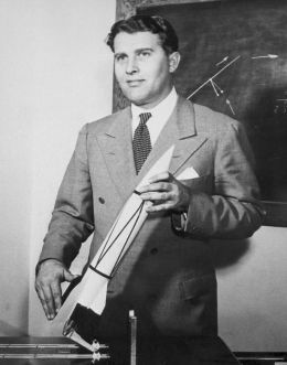 Preeminent rocket scientist Werner Von Braun played a large part in the launch of America's first satellite. Photo courtesy of NASA.