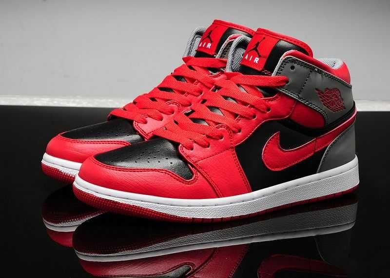 Nike Air Jordan 1s 2014 Red Black Shoes