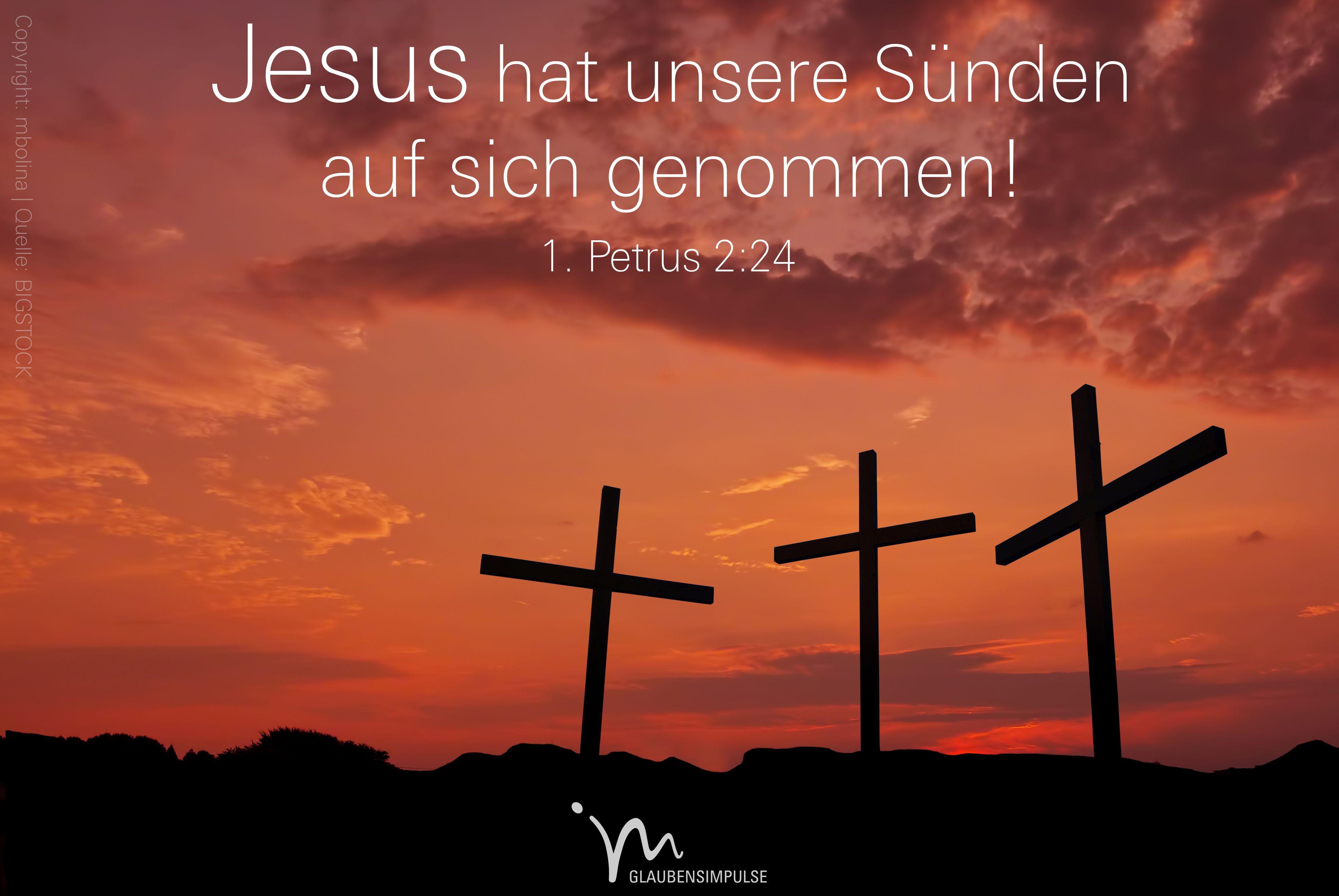 Christus Hat Unsere Sünden Auf Sich Genommen Und Sie Am Eigenen Leib