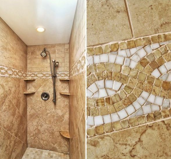 Bathroom Tiles Mosaic Border: Pin By Floor Decor Design Center On Bathroom Tile