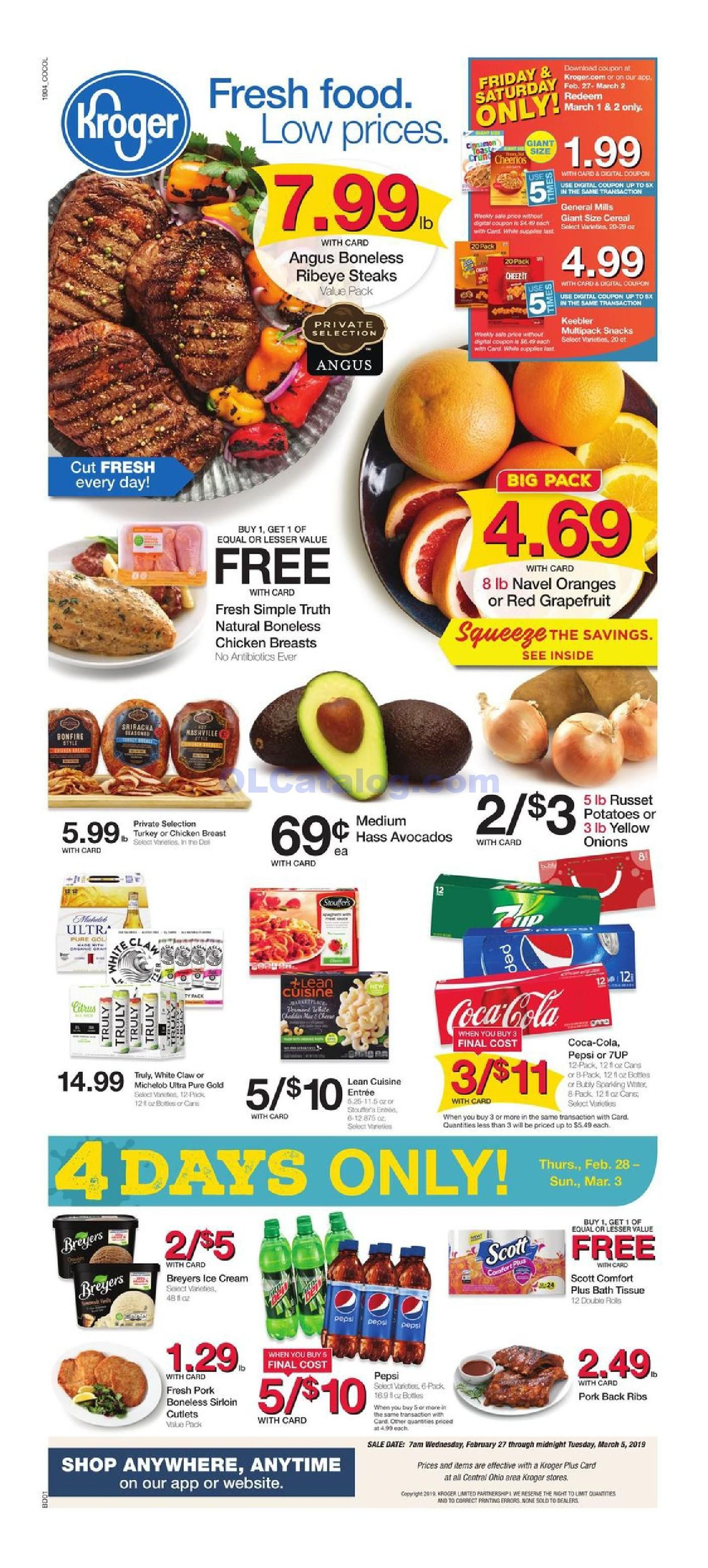 Kroger Ad This Week February 13 – 19 2019  Browse Latest