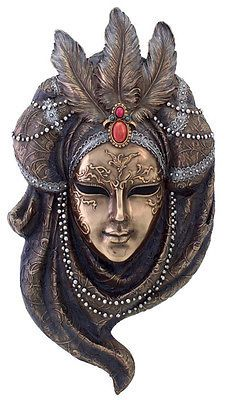 Venetian Mystique Mask Wall Plaque