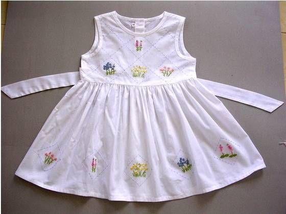 b9eeeaba1f0 Add embroidery to a little girl s dress