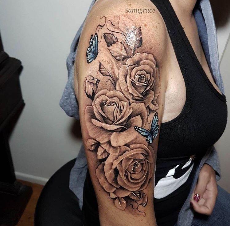 #rosen Rosen | Tattoos, Shoulder tattoos for women, Rose