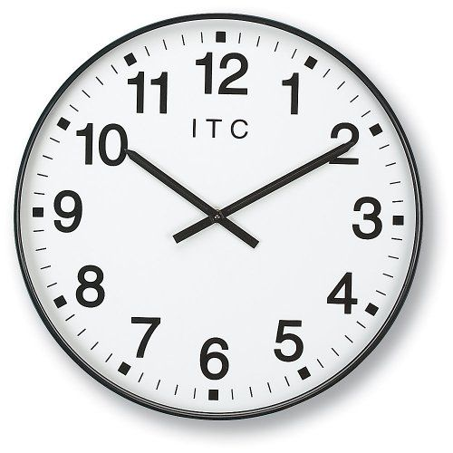 Infinity Itc 90 0019 1 Oversized 12 Hour Clock 19 Diameter Oversized Wall Clock Clock 12 Hour Clock
