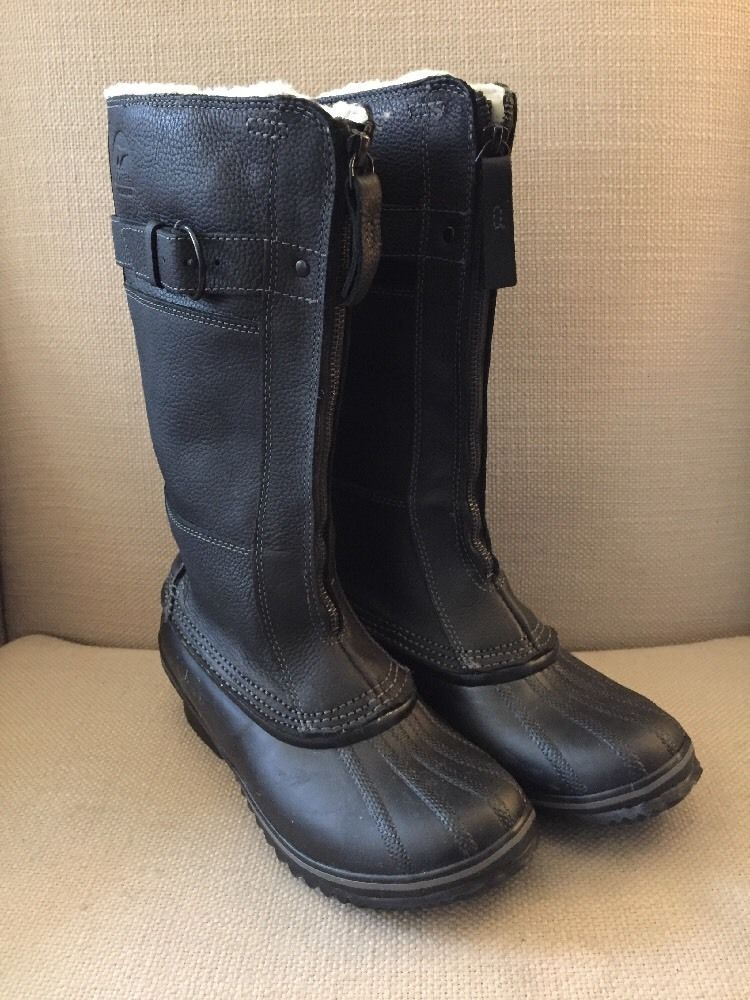 520330da1f96 SOREL WINTER FANCY II TALL ZIP FRONT BOOTS BLACK WOMENS SIZE 7 NWOB  SOREL   WINTER