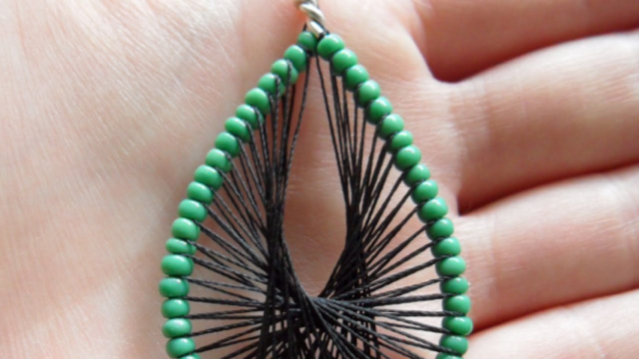 How To Make Pretty Thread - DIY Decorated Wire Earrings Tutorial ...