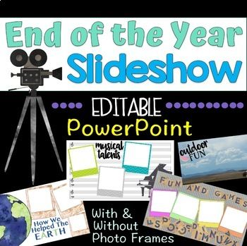 End Of The Year Slideshow Template Great For Distance Learning Distance Learning Slideshow Presentation End Of School Year