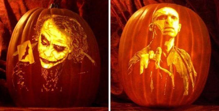 Realistic Pumpkin Carved Portraitsquandlespoulesaurontdesoreilles Pumpkin Art Pumpkin Carving Realistic Pumpkins