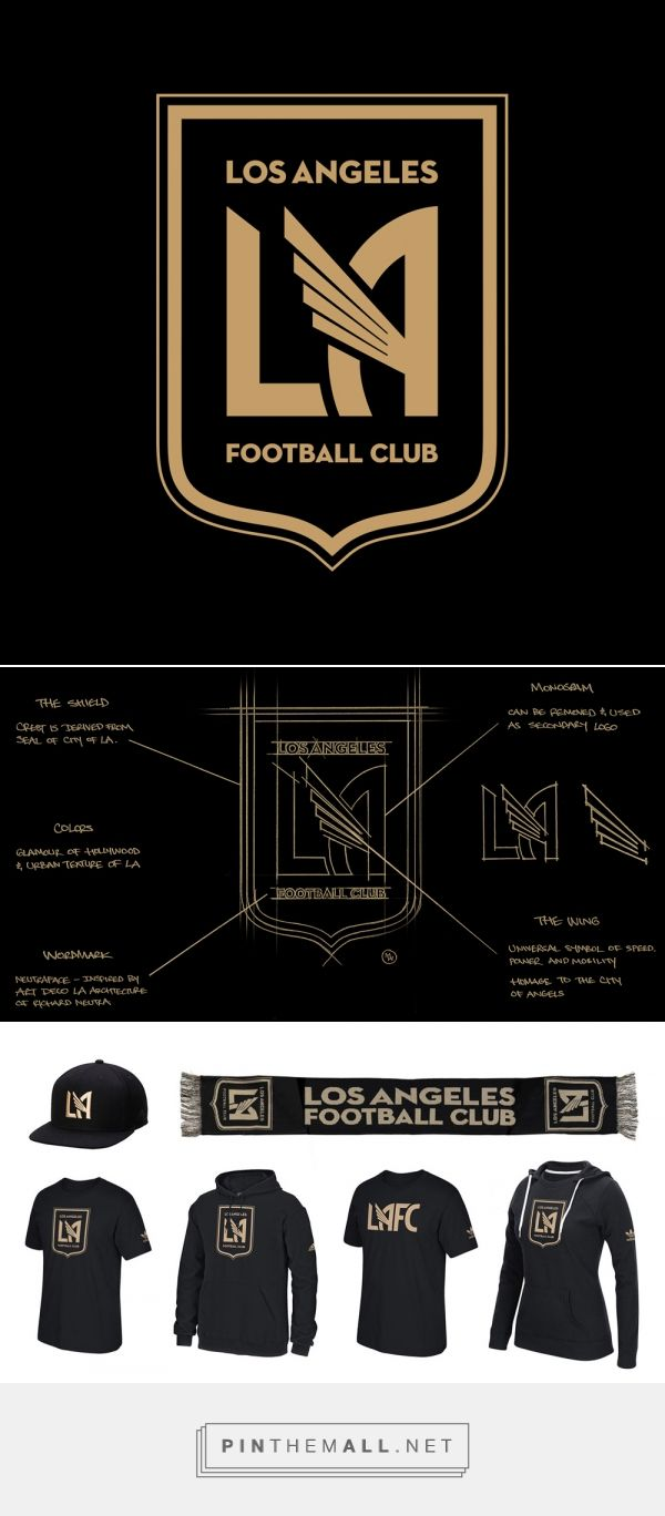 Brand New New Logo For Los Angeles Football Club By Tue Nguyen And Matthew Wolff A G Logo Design Inspiration Sports Sports Logo Design Sports Brand Logos