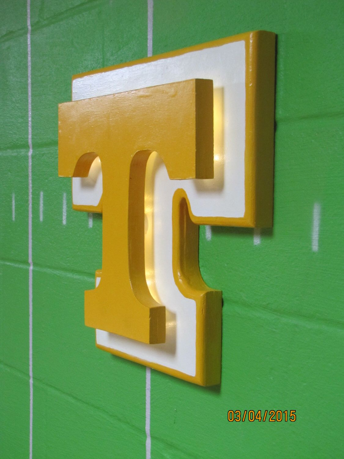 Tennessee Volunteers inspired wood sign,3D wooden wall decor piece ...