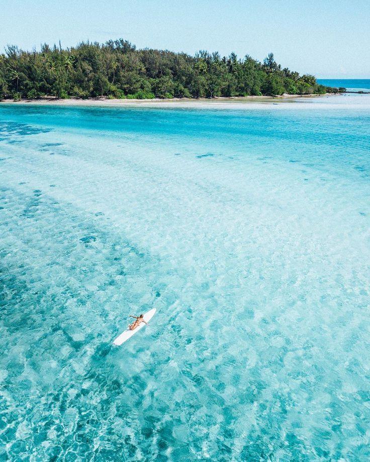 Tahiti Moorea Tropical Drone Beach Please Island