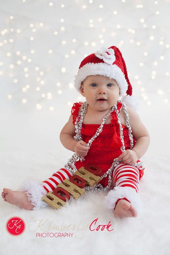 0eeff67289 Baby Girl Santa Hat Removeable Flower Christmas Hat 6-12 months ...