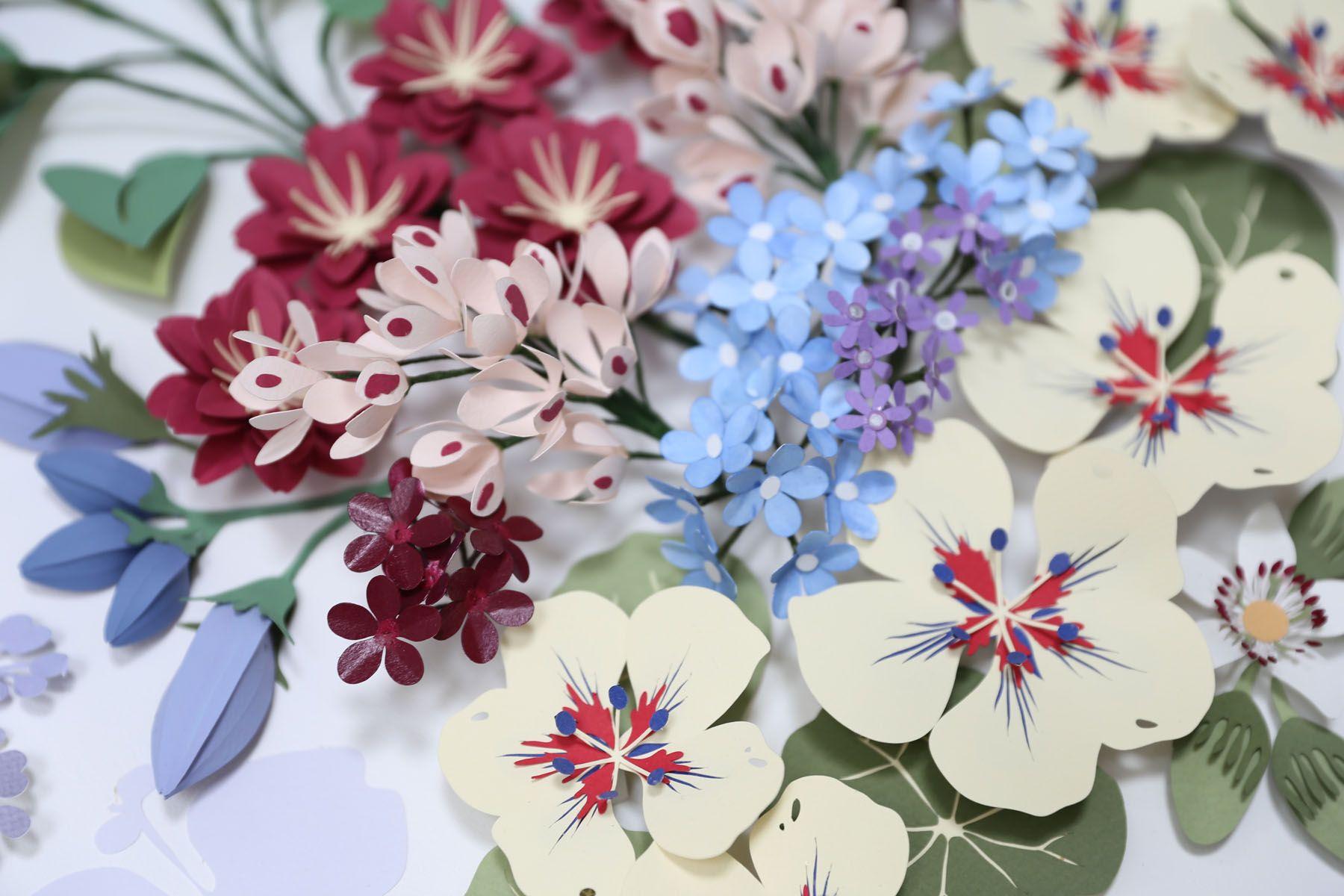 Paper Artist Sculptor colour composition botanical natural