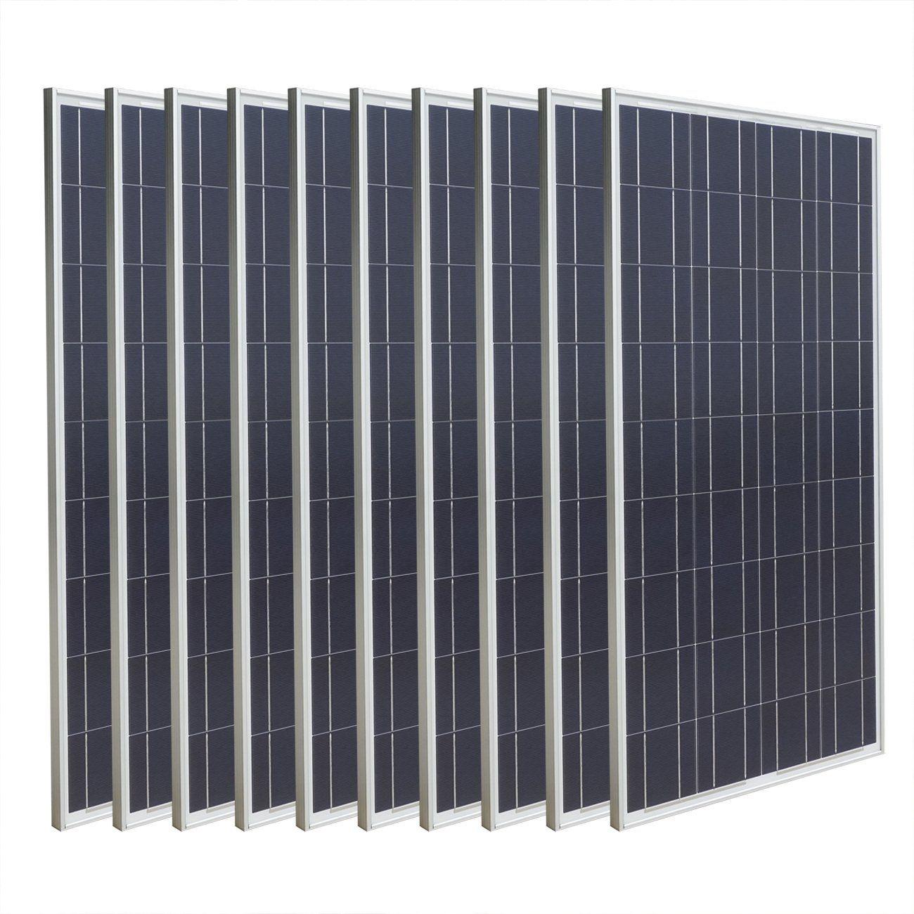 Eco Worthy 1kw 10pcs 100 Watts 12 Volts Polycrystalline Pv Solar Panels Eco Worthy 10pcs 12 Volt 100 Watt High Ef Solar Panels Solar Panel Cost Solar Pv Panel