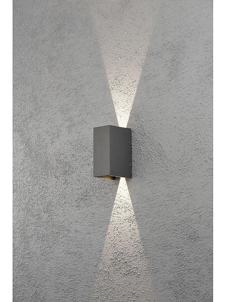 Grå Utomhuslampa Konstsmide Cremona Led Vägglampa Utomhusbelysning Pinterest Led, Grå