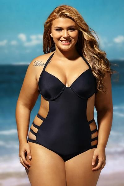 35c90b8063 Plus Size Cut Out One Piece Big n Bold Swimsuit