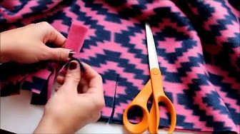 How To Make A No Sew Fleece Blanket With Fringe By