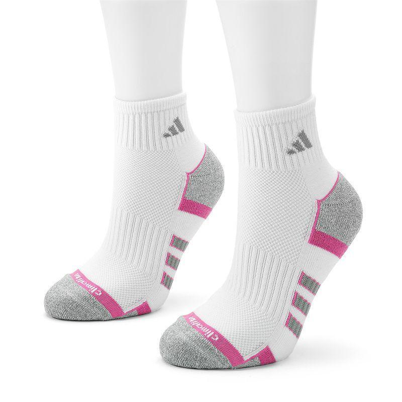 Adidas 2-pk. ClimaLite II Quarter Socks, White
