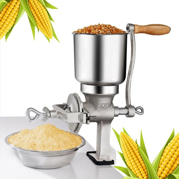 Corn Mill Grinder Manual Wheat Grain Big Hopper Grinder Home Kitchen Tool US