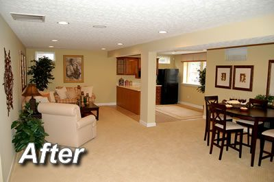 finished basement apartment great use of light colors and recessed lights - Basement Apartments