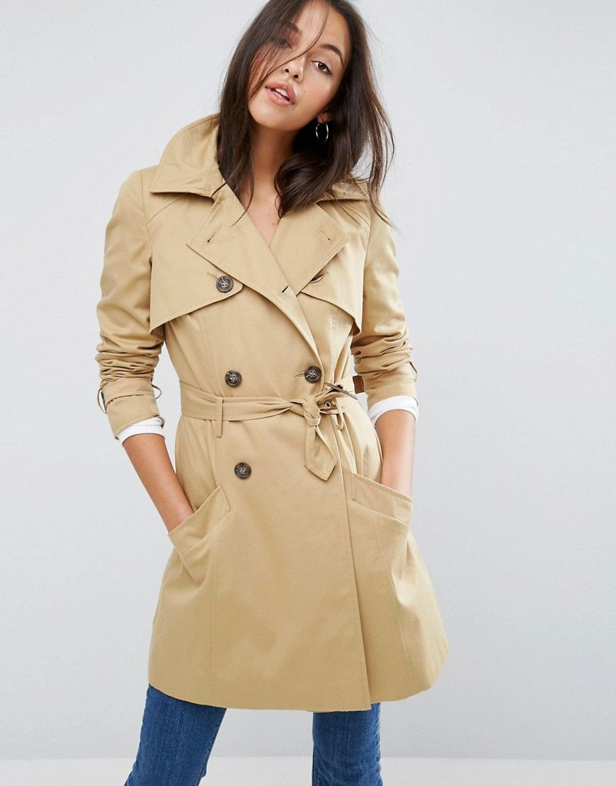 Get this Asos's trench now! Click for more details. Worldwide shipping. ASOS Classic Trench Coat - Stone: Coat by ASOS Collection, Heavyweight textured woven fabric, Silky-feel lining, Padded shoulders, Double-breasted button closure, Belted waist, Functional pockets, Centre back vent, Regular fit - true to size, Dry clean, 83% Polyester, 17% Cotton, Our model wears a UK 8/EU 36/US 4 and is 178 cm/5'10� tall. Score a wardrobe win no matter the dress code with our ASOS Collection own-label…