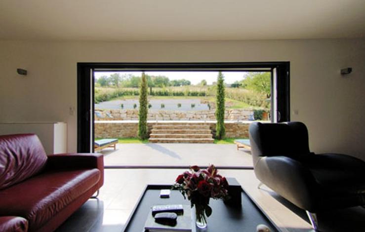 baie vitr e galandage design structure pinterest baies vitr es baies et baie vitr e. Black Bedroom Furniture Sets. Home Design Ideas