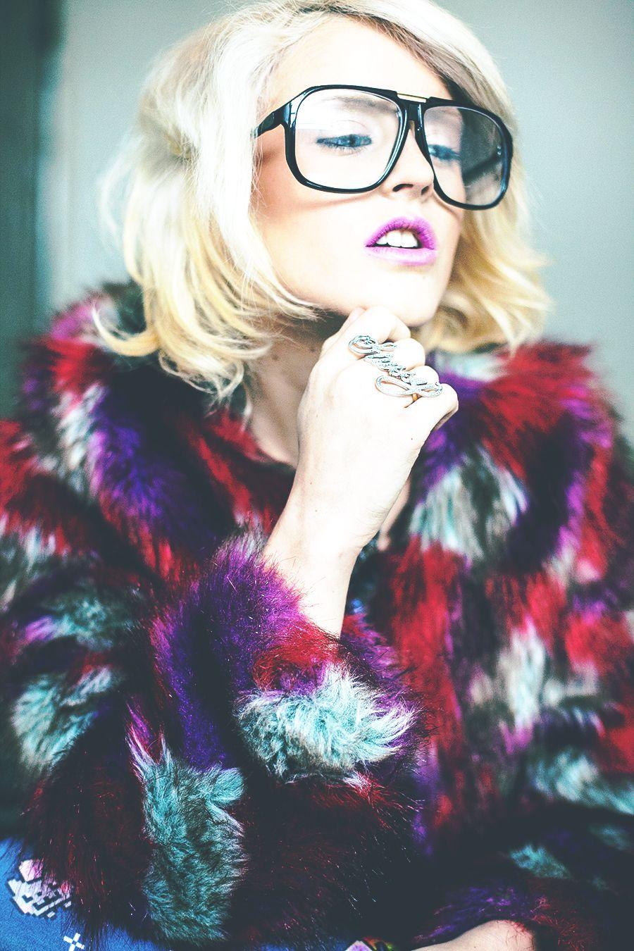 I hate blonde oversize nerd retro square clear lens glasses