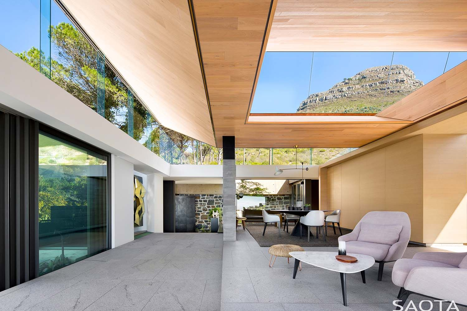 Striking Modern Home In Cape Town Showcases An Inverted Pyramid Roof Pyramid Roof House Design Clerestory Windows