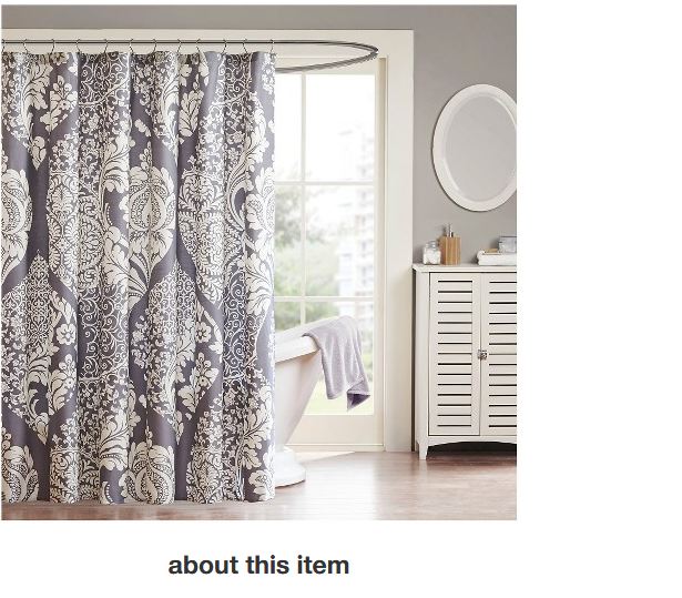 Adela Cotton Shower Curtain Slate Curtains Cotton Shower