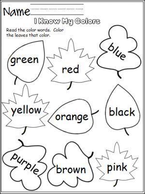 I Know My Colors Leaves Madebyteachers Fall Kindergarten Preschool Colors Fall Preschool