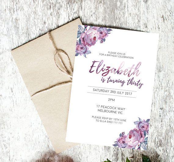customisable invitations