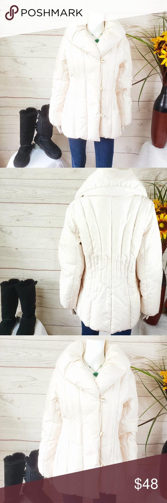 Centigrade Outerwear Warm Down Fill Cream Jacket Cream Jacket Clothes Design Outerwear [ 1740 x 580 Pixel ]