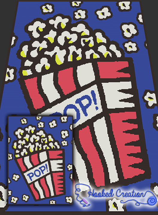 Pop art popcorn sc twin sized blanket crochet pattern pdf pop art popcorn sc twin sized blanket crochet pattern all of our graph patterns include a full size color with symbols graph and written instructions dt1010fo