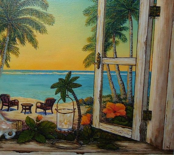 tropical landscape paintings