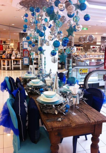 Stylish Settings: Myer Blue Christmas Tablescape.